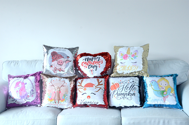 product image for sublimation sequin pillows