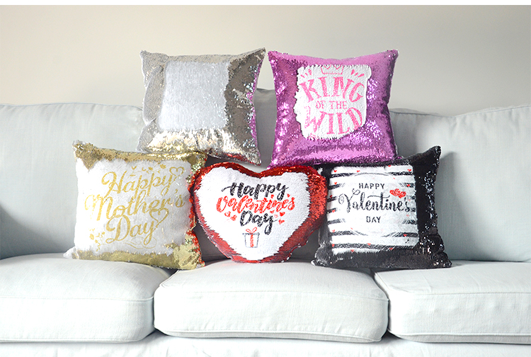 product image for sublimation sequin pillow
