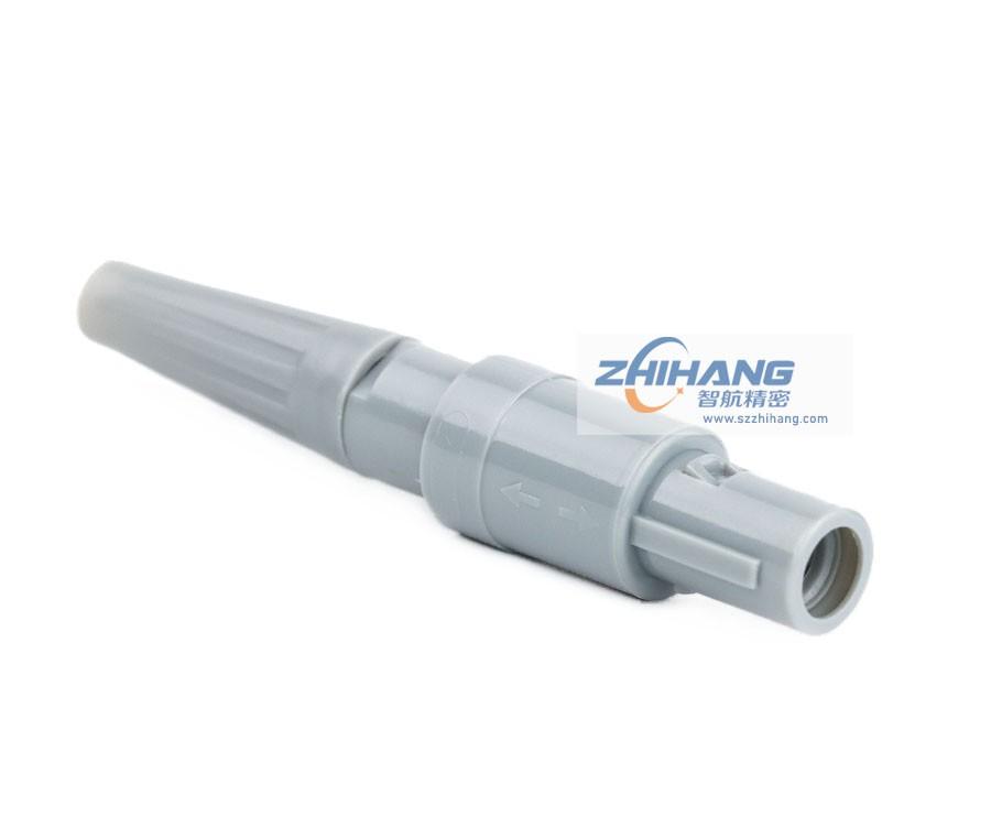 1P直式插头PAG(带护套)标准医疗连接器