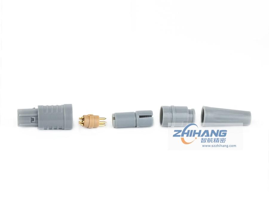 2P直式插头(带护套)连接器