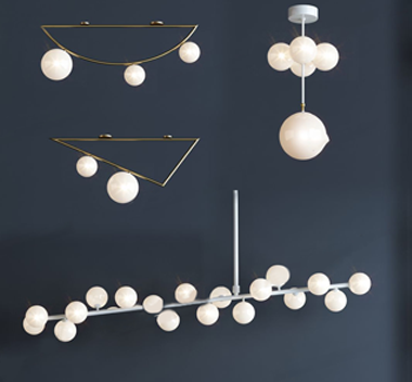 英国areti现代灯具组合3d模型