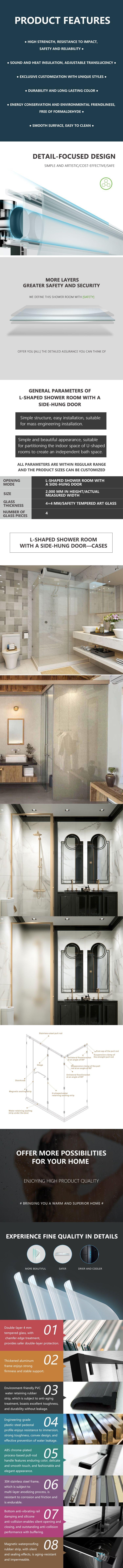 L-shaped Shower Room