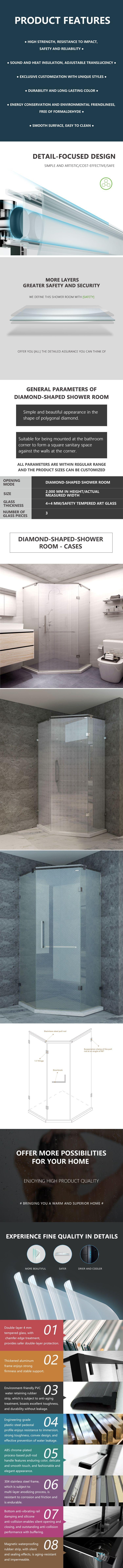 Diamond-shaped Shower Room