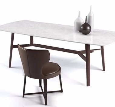 英国Banlan现代桌椅组合3d模型