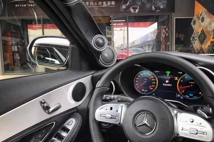 奔驰C260音响升级|德国HELIX & MATCH  纯粹音质享受,让人欲罢不能