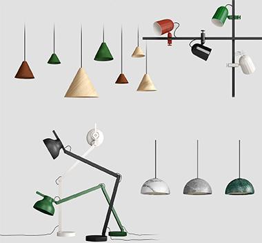 丹麦 HAY北欧灯具组合3d模型