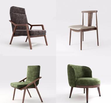 中国Kaviar椅子3d模型