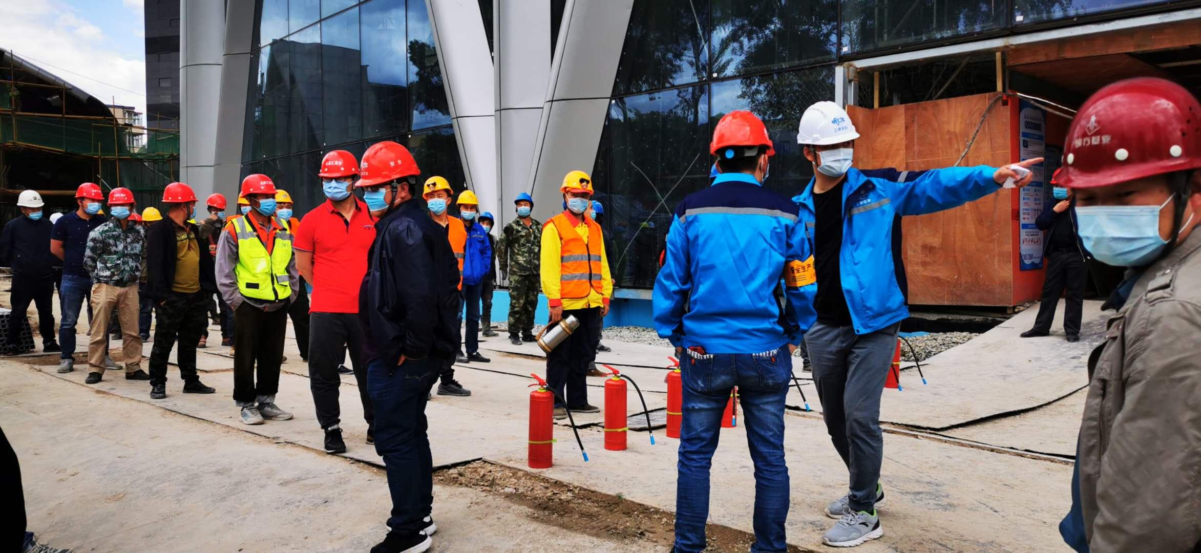长春IFC项目开展消防演练