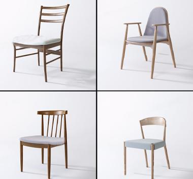中国Norhor现代椅子组合3d模型
