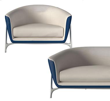 德国Mercedes Benz现代沙发组合3d模型