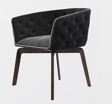 法国Roche Bobois现代餐椅3d模型