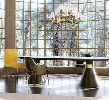 美国kelly wearstler现代桌椅组合3d模型
