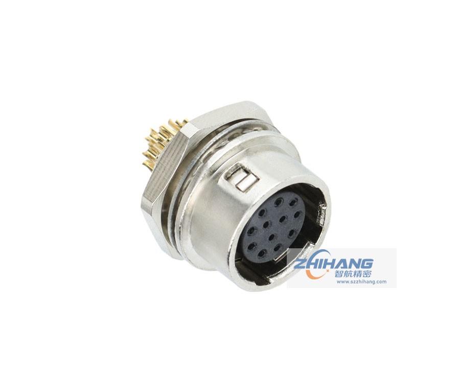 JHR系列面板安装插座(座孔焊接针)