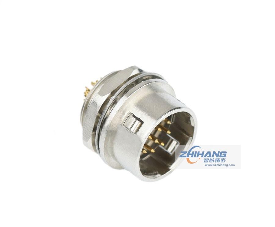 JHR系列面板安装插座(座针焊接针)