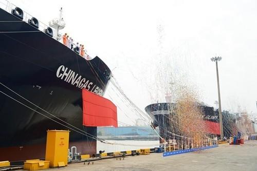 传奇!荣耀!中国贝博网址两艘国际领先VLGC命名下海