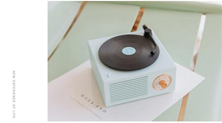 原子黑胶复古唱机无线蓝牙音箱