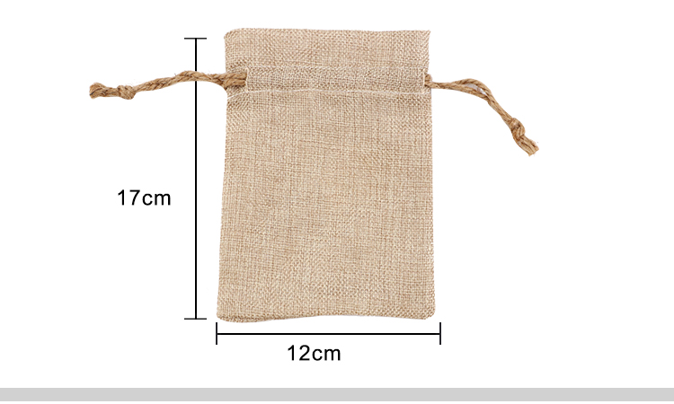 size for sublimation burlap drawstring bags