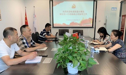 桂溪街道办事处胡小玲副主任莅临公司指导工作