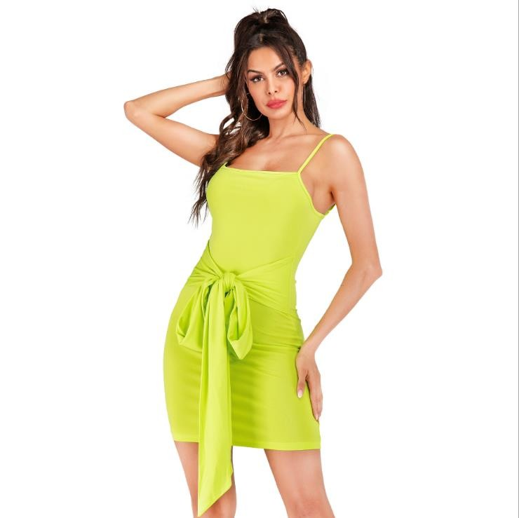 Summer New Halter Sexy Belt Dress Bodycon Club Mini Dress Fashion Australia Sexy Girl