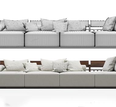 意大利Porada现代沙发组合3d模型
