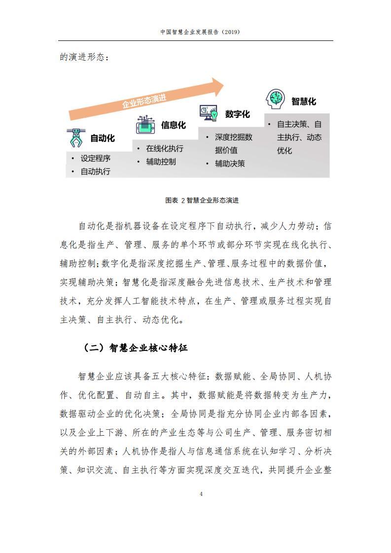 中国智慧企业发展报告(2019)