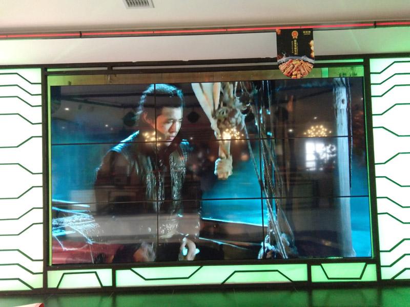成都餐厅液晶拼接大屏绵阳餐厅大屏完成