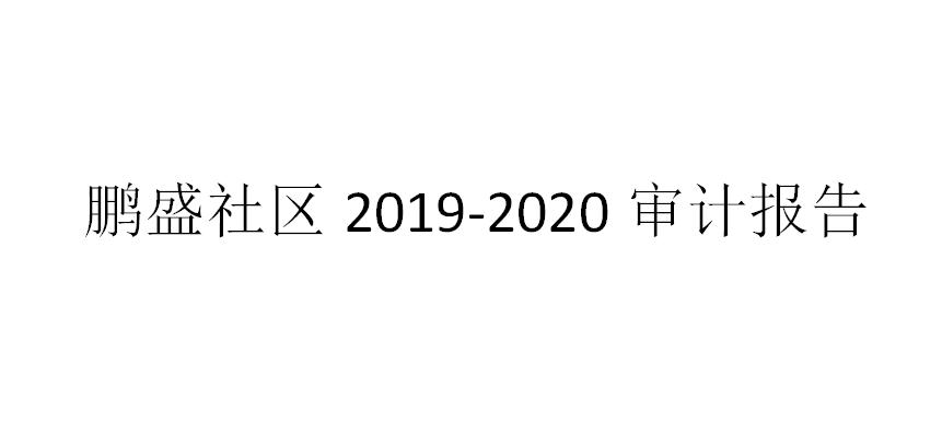 鹏盛社区2019-2020审计报告