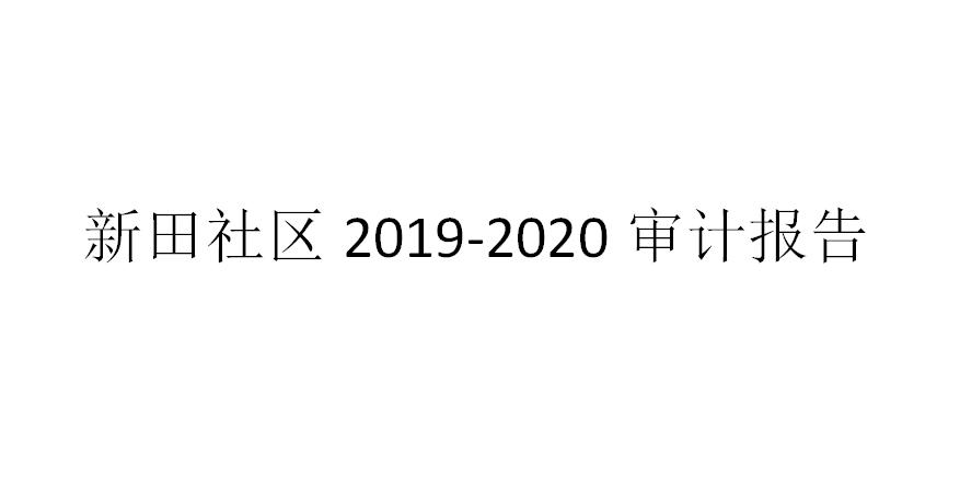 新田社区2019-2020审计报告