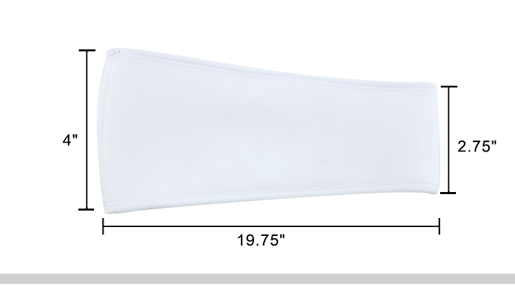 sizes for sublimation ear warming band