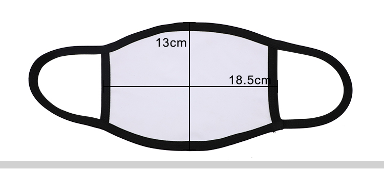 Size for Sublimation Mask