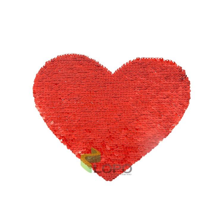 Sequin Transfer  Heart shape 16.5*19.5cm