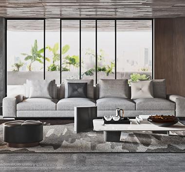 意大利Minotti现代沙发组合3d模型