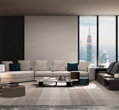 意大利Minotti沙发茶几组合3d模型