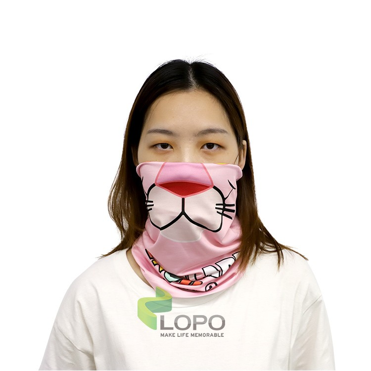 Fabric Neck Gaiter Endless Face Mask