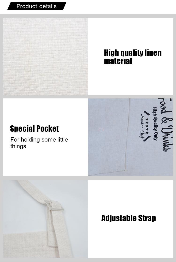 rough linen pinafore