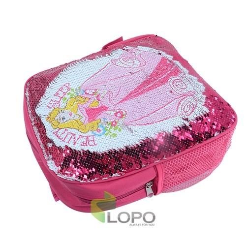 Sequin Kids Backpack-Rose Red