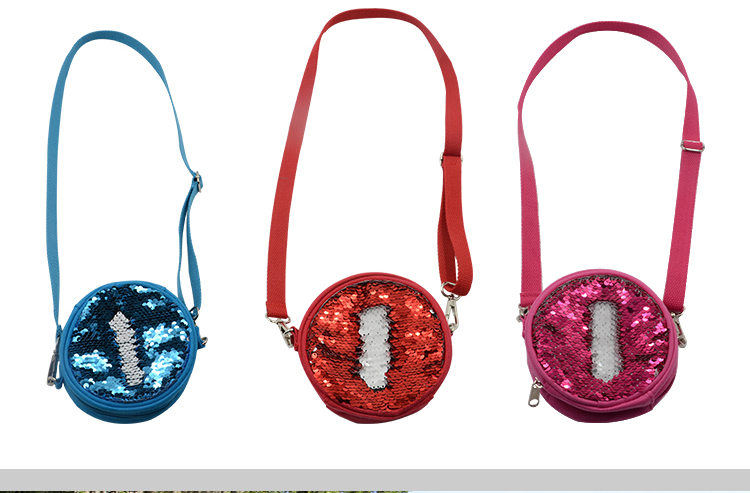 personalised sequin coin bag
