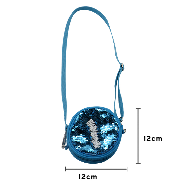 size for sublimation sequin round coin bag