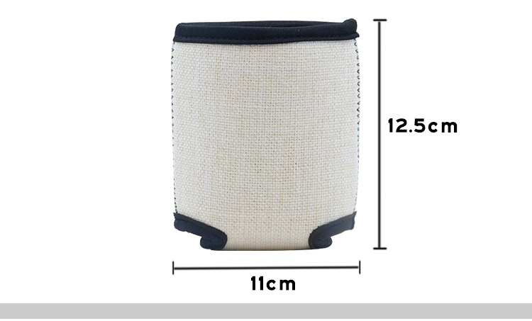 size for sublimation Linen Can Cooler