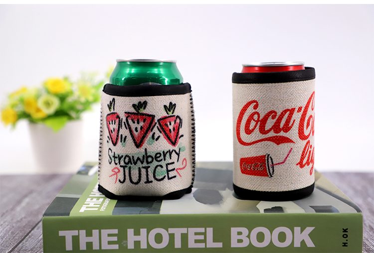 blank Linen Can Cooler for sublimation