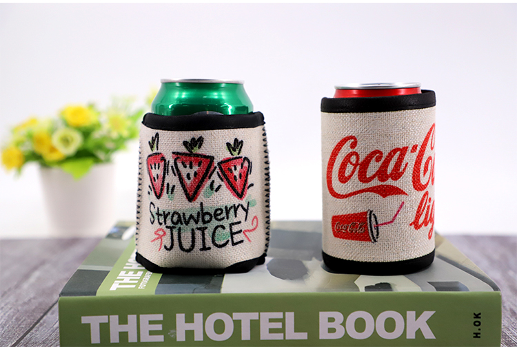 Linen Can Cooler for sublimation