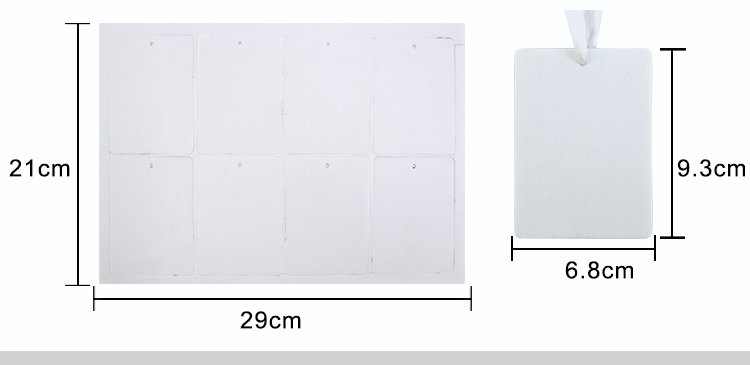 size for sublimation felt air freshener