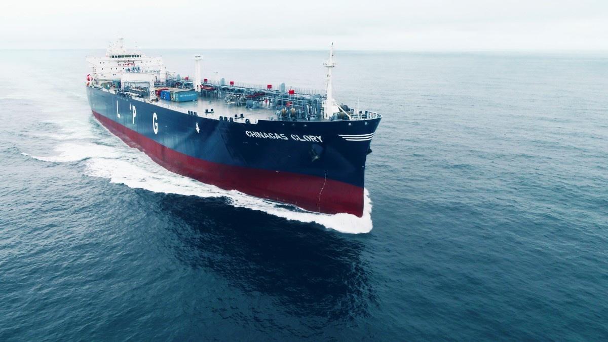 荣耀起航 中国贝博网址第二艘自有VLGC东海试航