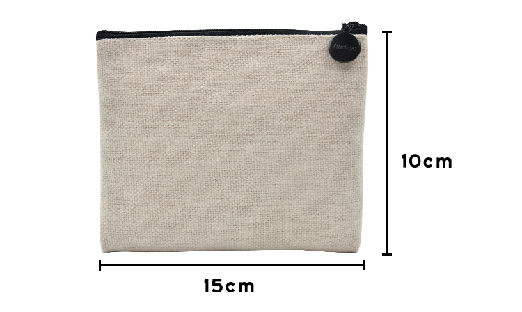 size of sublimation linen handbag square edge