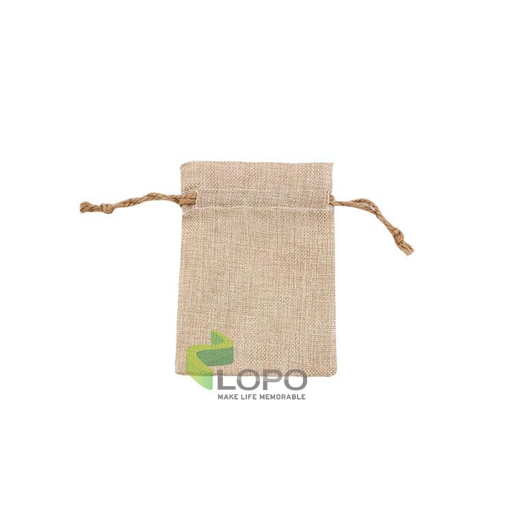 Burlap Drawstring Bag(17*21CM)