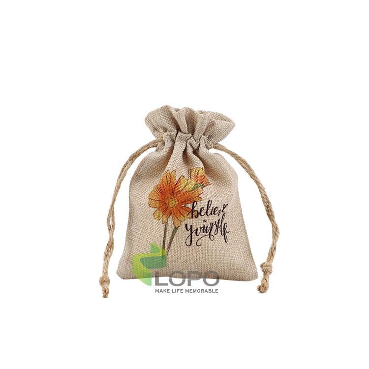 Burlap Drawstring Bag(12*17CM)