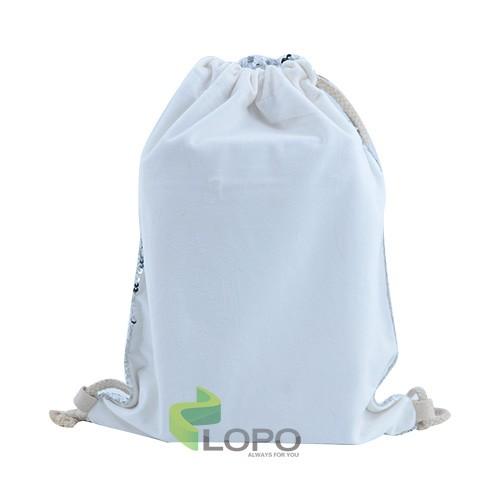 Sequin Drawstring Bag-Silver