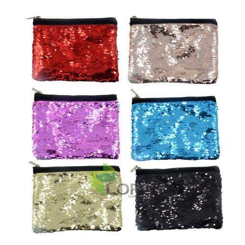 Sequin Hand bag-Gold