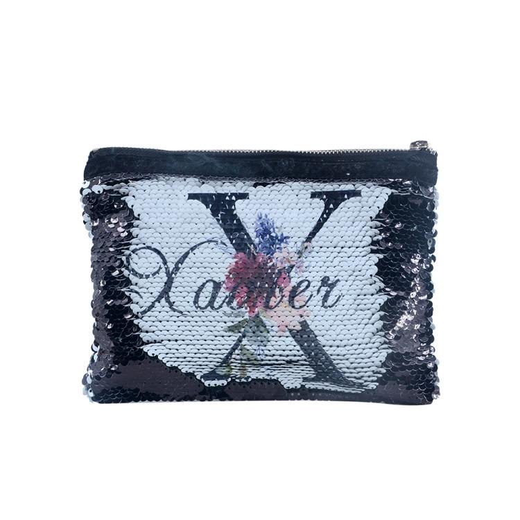 Sequin Hand Bag-Black