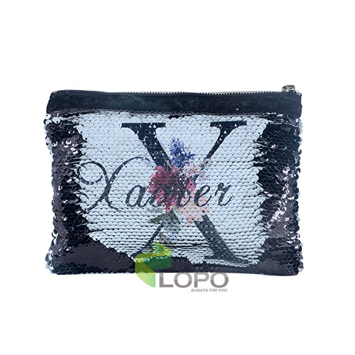 Sequin Hand Bag-Black